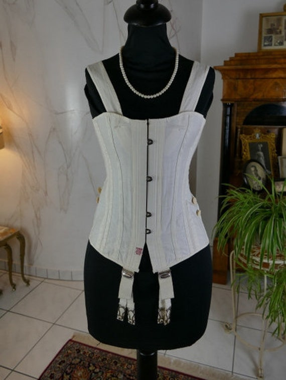 1890 FERRIS Corset Pat. 804, antique corset, victo
