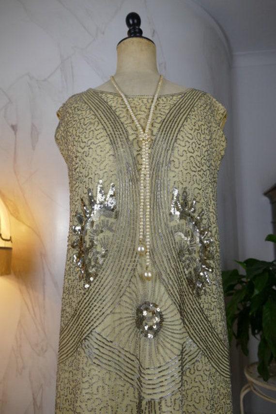 1920 Flapper Dress, antique dress, antique gown, C