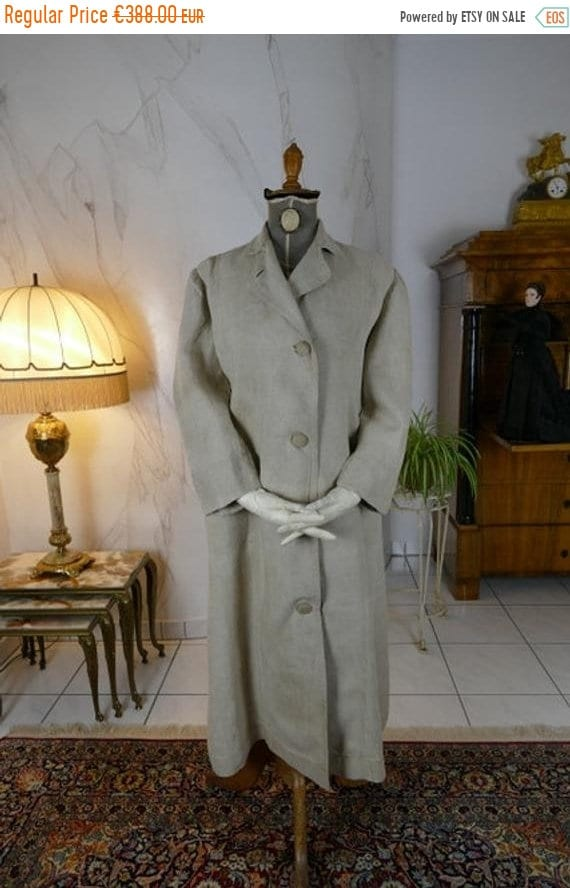ON SALE 1908 Duster Motor Coat, antique duster, an