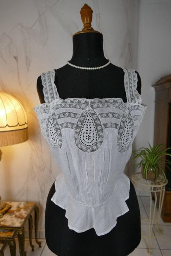 1902 Corset Cover, antique corset, antikes Korsett