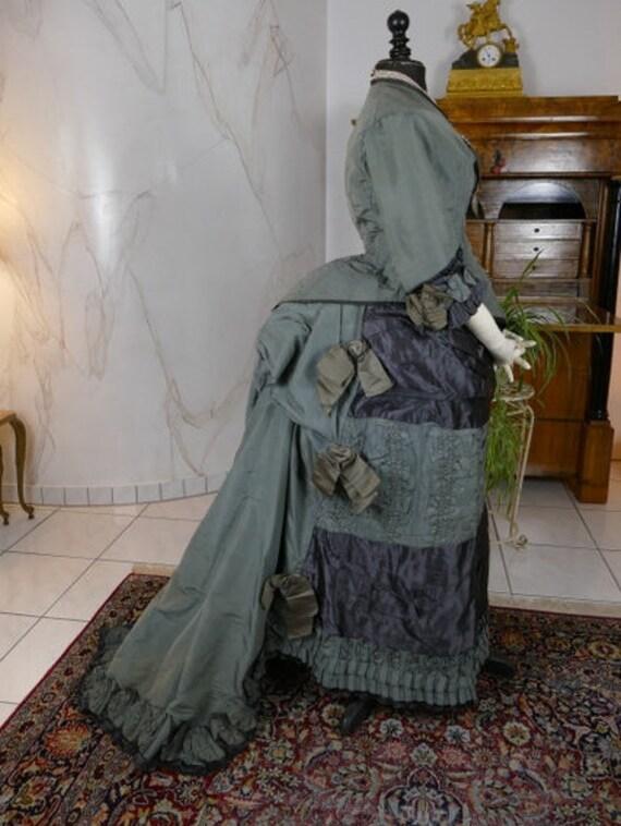 1878 Antique bustle dress, antique gown, Victorian