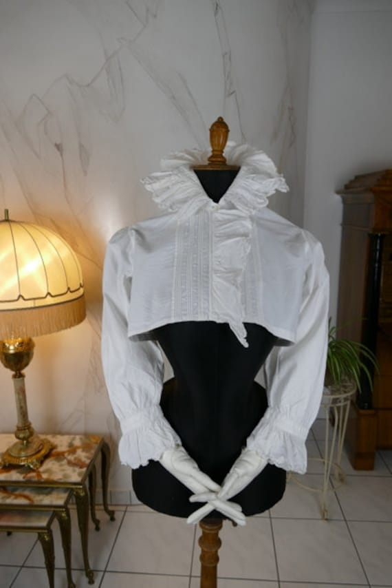 1890 Elegant Bed Jacket, antique bed jacket, antiq