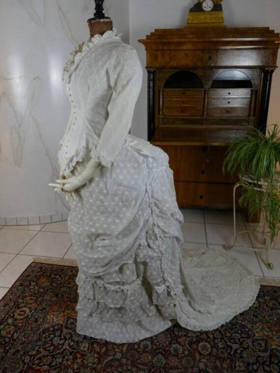 1880 Lingerie Dress, Antique Garden Party or Summe