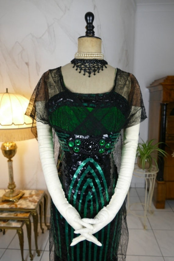 1912 Evening Dress, antique dress, Edwardian Dress