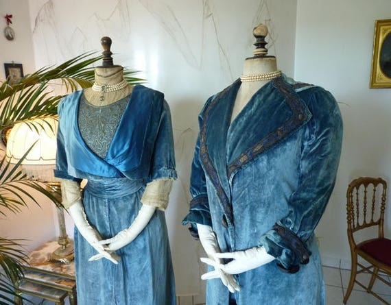 1908 WORTH, House of WORTH, antique walking dress,