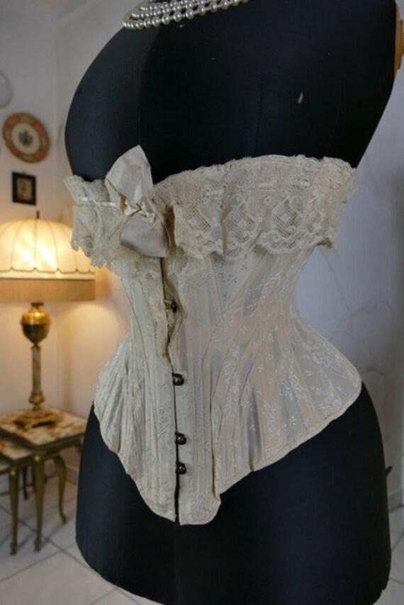 1901 HER LADYSHIP Silk Corset, antique corset, Edw