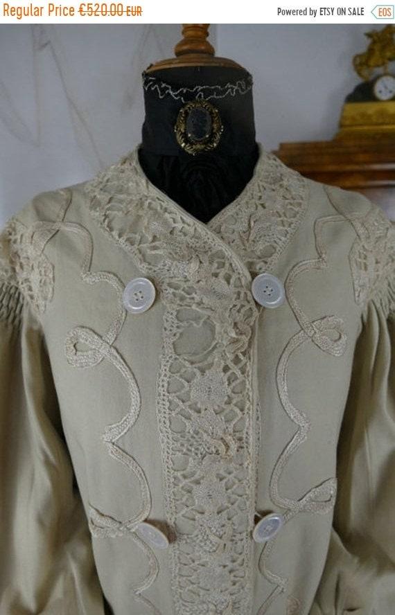 ON SALE 1904 Wool Coat, America, antique coat, Edw
