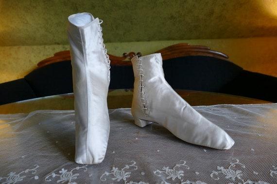 1860 Wedding boots, antique boots, antique schoes,