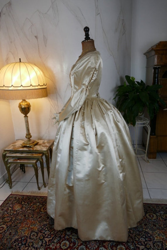 1845 Romantic Period Wedding Gown, Bridal Gown, an
