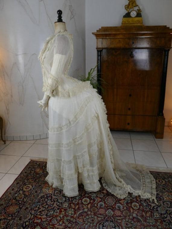1880 Bustle Dress Underwear Set, antique bustle dr