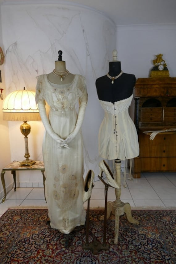1912 Wedding Ensemble, antique dress, antique gown