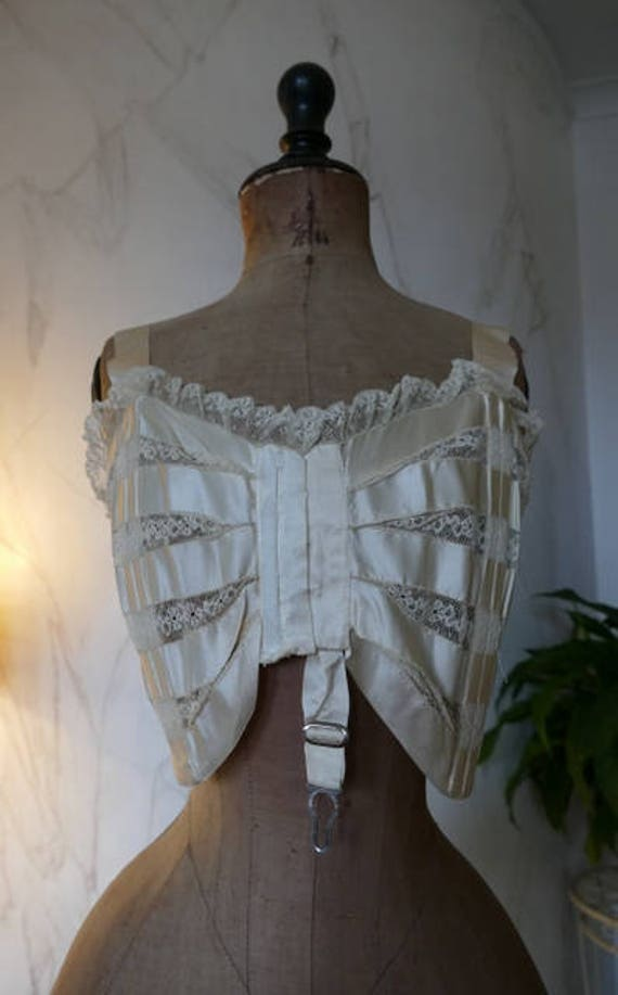 1908 GRACE HILL Bust Bodice, antique Corset, antiq