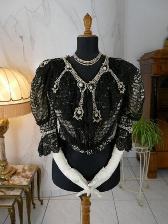 1903 Blouse, antique blouse, antike Bluse, Edwardi