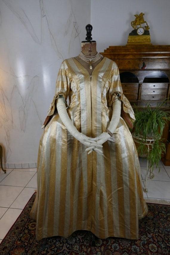 1770 Rococo Dress, rococo robe, robe manteau, anti