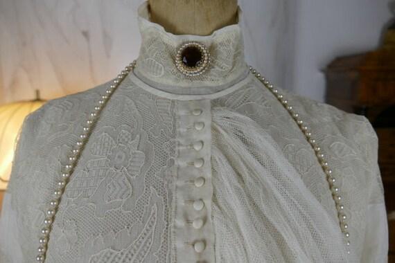 1910 JAQUES DOUCET Blouse, Paris, antique blouse,