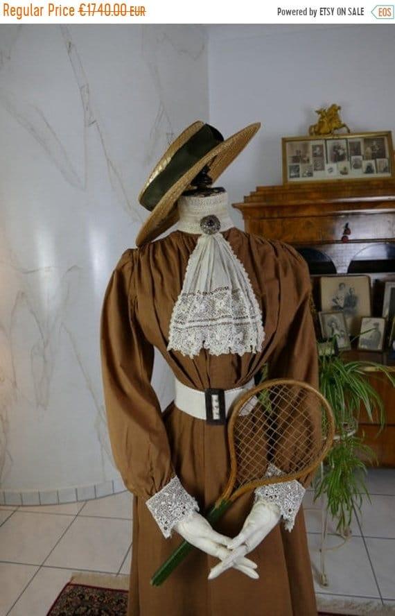 ON SALE 1904 Tennis Ensemble, antique tennis dress