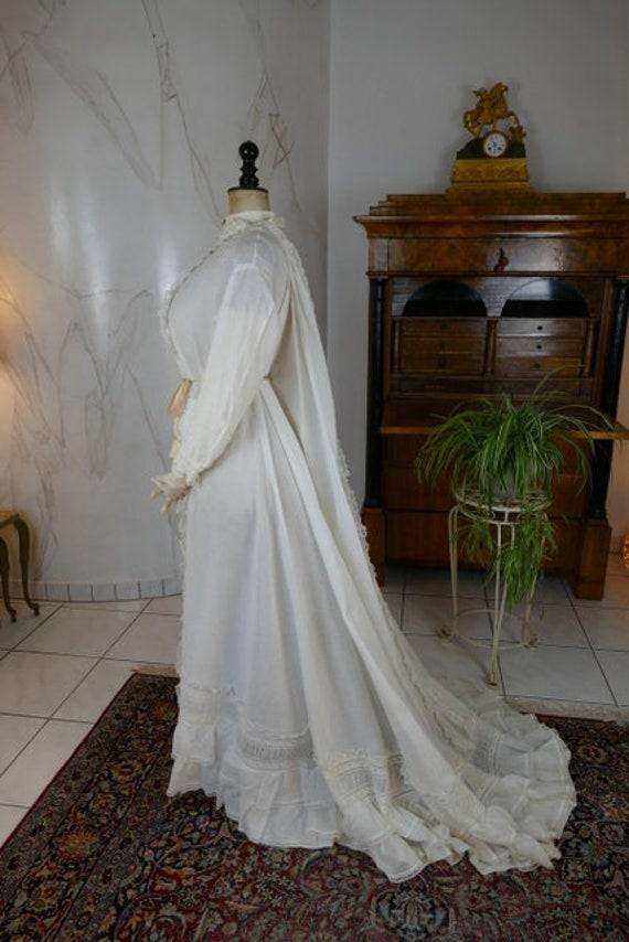 1875 Boudoir Robe, antique boudoir dress, antique