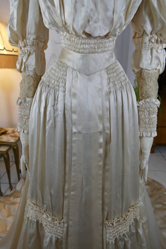 ON SALE 1900 Wedding Dress, antique dress, antiqu… - image 3