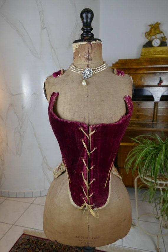 1740 Rococo Stays, Rococo Corset, antique corset,