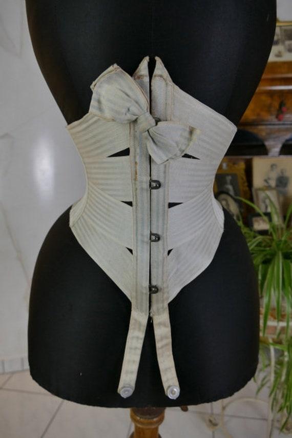 1895 Summer Corset, antique corset, Victorian cors