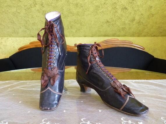 Up De 1867 Etsy Bottes Lace Paris Chaussures Pinet Cuir pqgqxEwHO