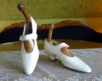 1910 Wedding Shoes, antique shoes, Edwardian shoes, Bridal shoes