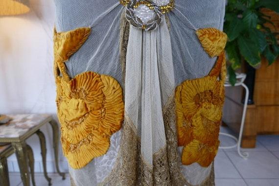 1924 Party Dress, Flapper Dress, antique dress, an