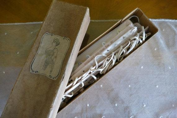 1900 Corset Box, antique Corset, Victorian Corset,