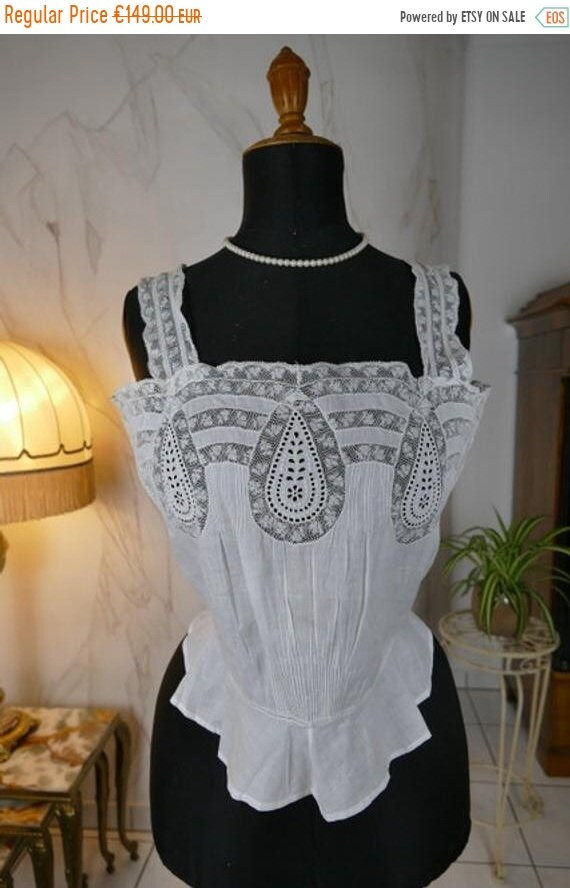 WINTER2019 1902 Corset Cover, antique corset, anti