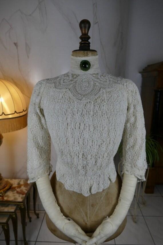 1909 Blouse, antique blouse, Edwardian blouse, Bat