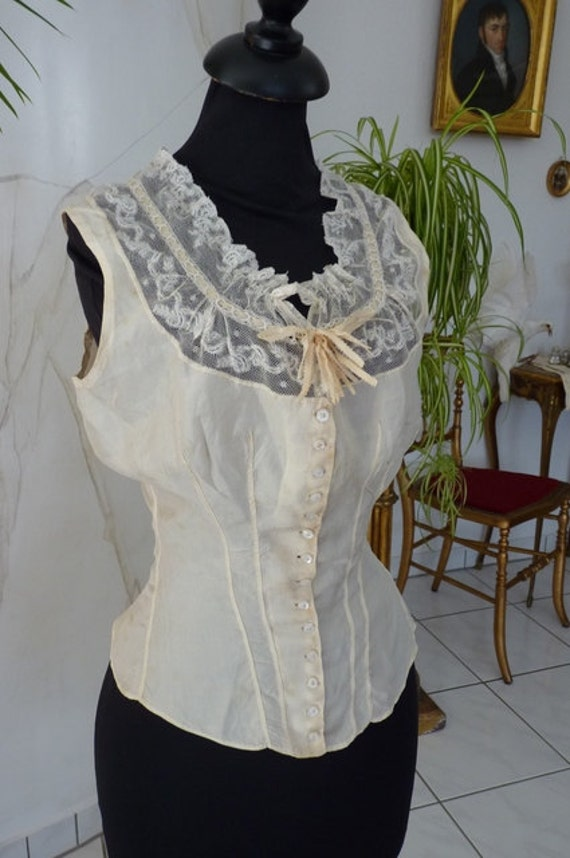 1880 Wedding Camisole, antique Camisole, Victorian