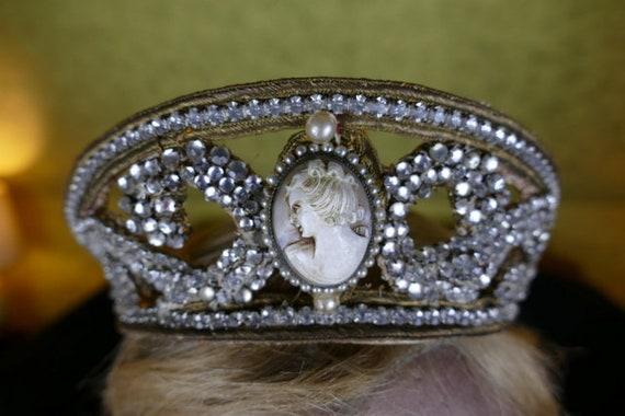 1910 Tiara, antique tiara, Edwardian Tiara, rhine