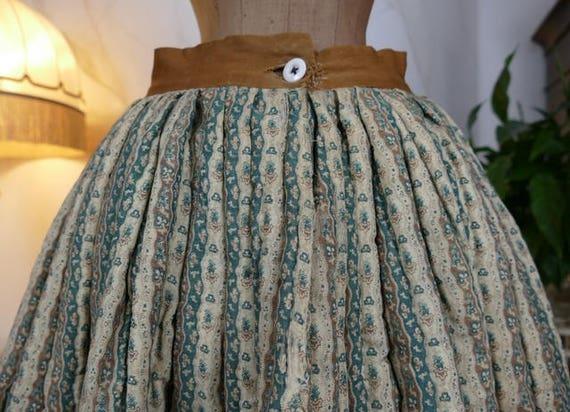 1830 Biedermeier Petticoat, antique Petticoat, ant
