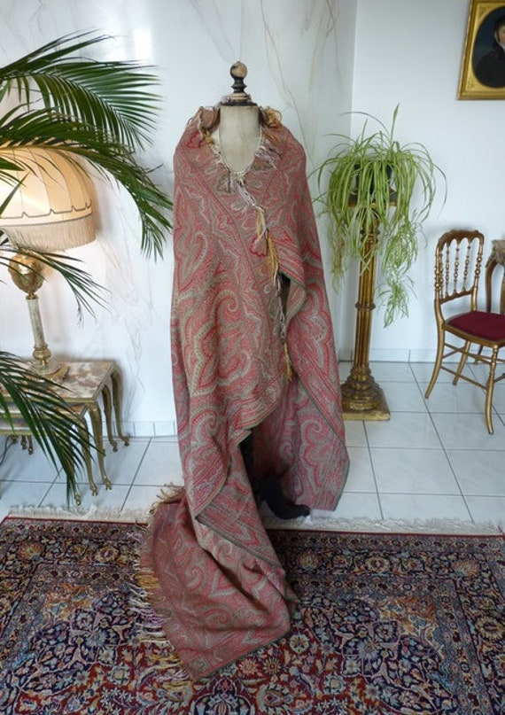 1870-1880 Paisley Shawl, antique scarf, antique sh