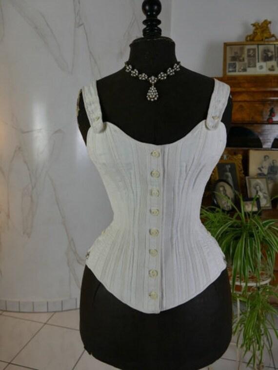 1880s FERRIS Corset, antique corset, Victorian cor