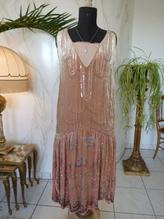 1920 Flapper Dress, Antique Dress, Charleston Dres