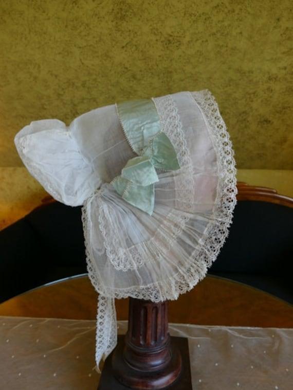 1900 Bonnet, antique bonnet, Victorian Bonnet, ant