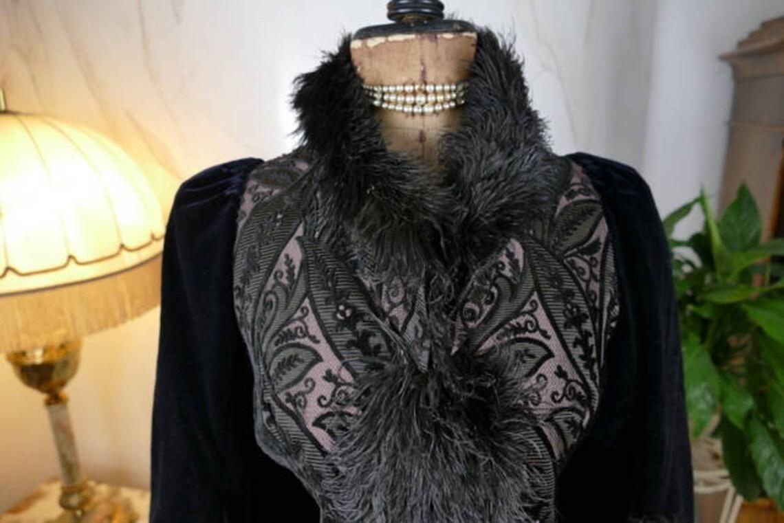 1888 Connell Velvet Dolman, Chicago, Antique Mantle, Coat, Victorian Dress, Gown
