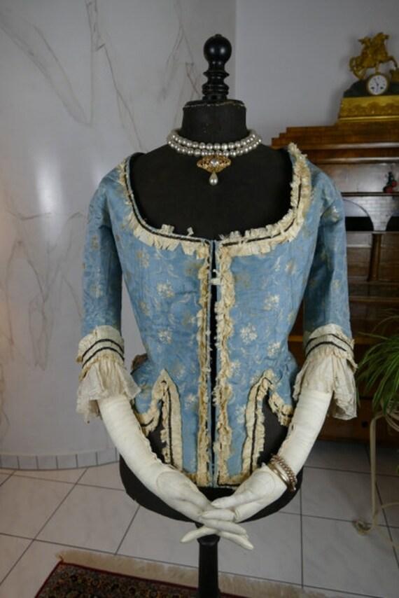 1775 Pierrot à l'Anglaise, rococo dress, rococo bo
