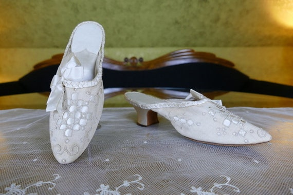 1904 Boudoir Slippers, antique slipper, antique sh