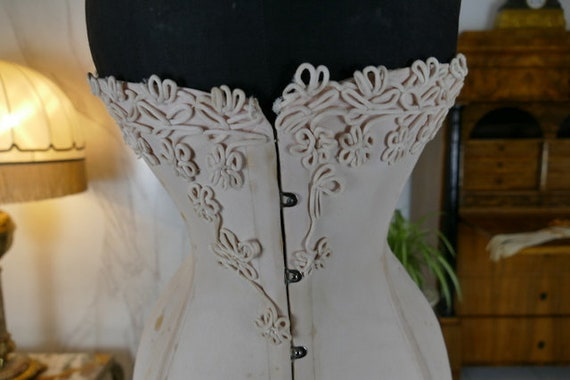 1912 Corset Fibrogéne, antique corset, Edwardian c