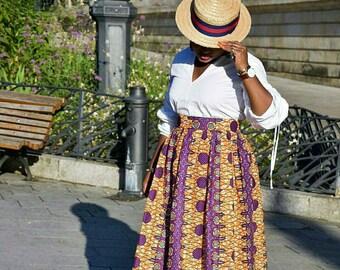 African clothing, african print  skirt, ankara skirt, african print, wax print, african clothing, maxi skirt ( YENI maxi skirt)