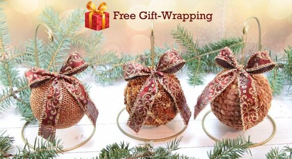 Regali Di Natale Fatti A Mano Unico Set Palle Di Natale All Uncinetto Infrangibile Di Ornamenti Di Natale Luminoso