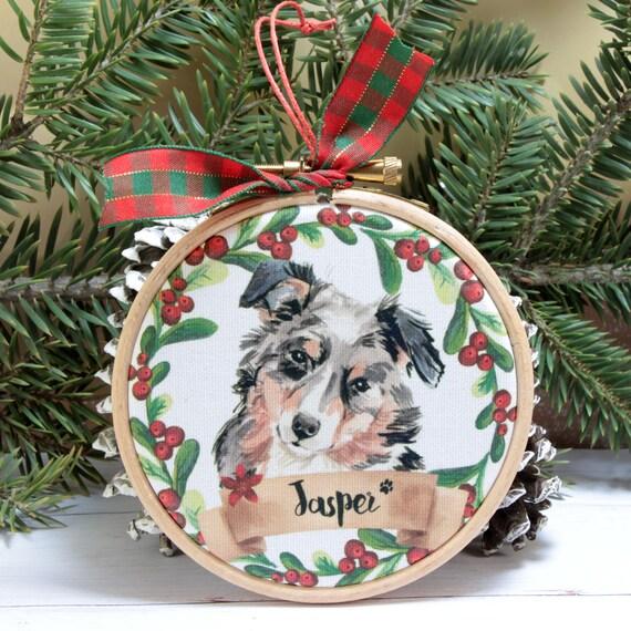 Australian Shepherd Christmas Ornament.Australian Shepherd Pet Ornament 4 Custom Dog Ornament Unique Australian Shepherd Christmas Gifts