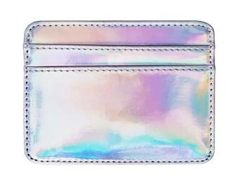 Card Holder Wallet, Holographic, Wallet, Card Holder, Holographic Wallet, Iridescent, Credit Card Holder, Card Wallet