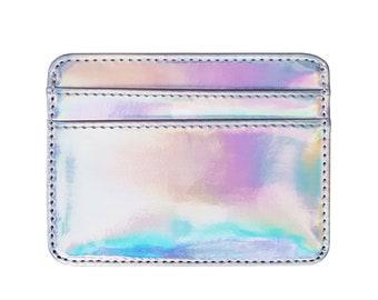 Holographic Rainbow Iridescent Card Holder Wallet