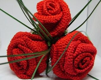 Crochet Bouquet of Roses
