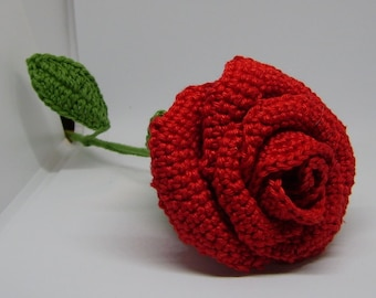 Crochet Roses with stalk