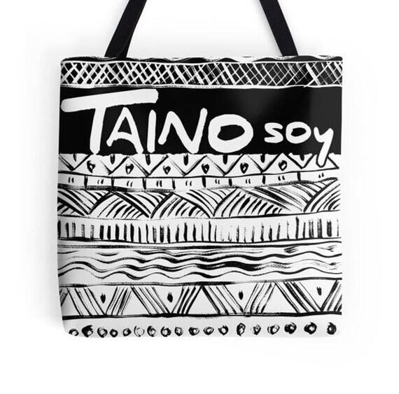 Taino Tribal Tote Bag Taino Pride Taino Gift Puerto Rico Art Etsy