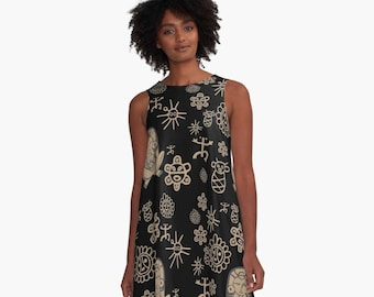 Taino Tribute Line A Dress Taino Art
